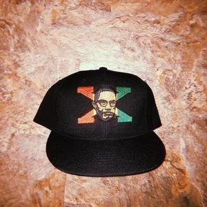 Vintage 90s 80s malcolm x hat cap cross colours